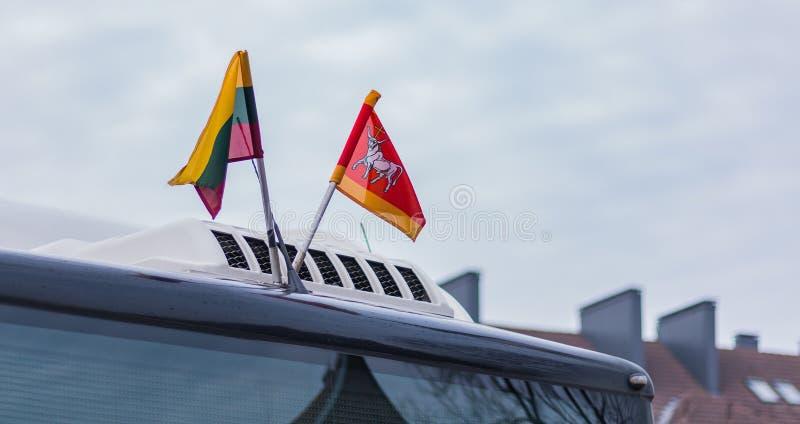 Litouws Pride Flags royalty-vrije stock foto
