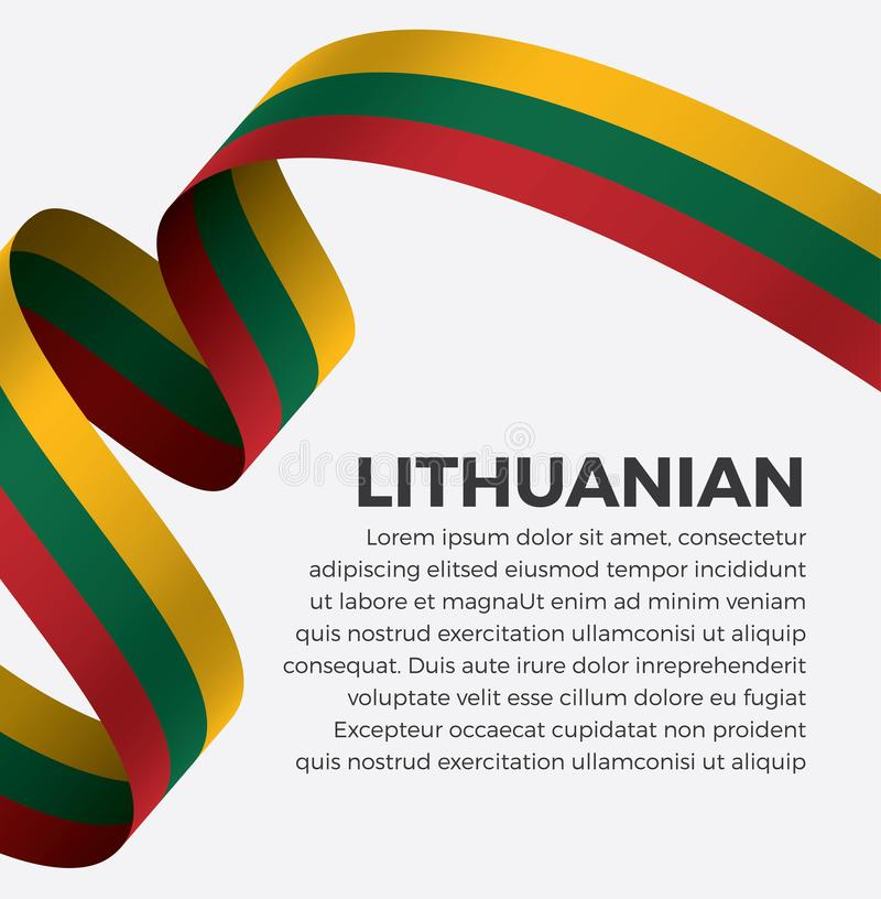 Litouwse vlag voor decoratief Het kan voor prestaties van het ontwerpwerk noodzakelijk zijn royalty-vrije stock fotografie