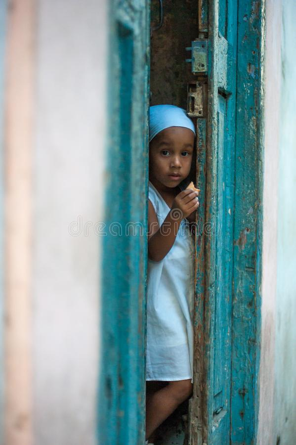 Little Cuban Girl stock photography