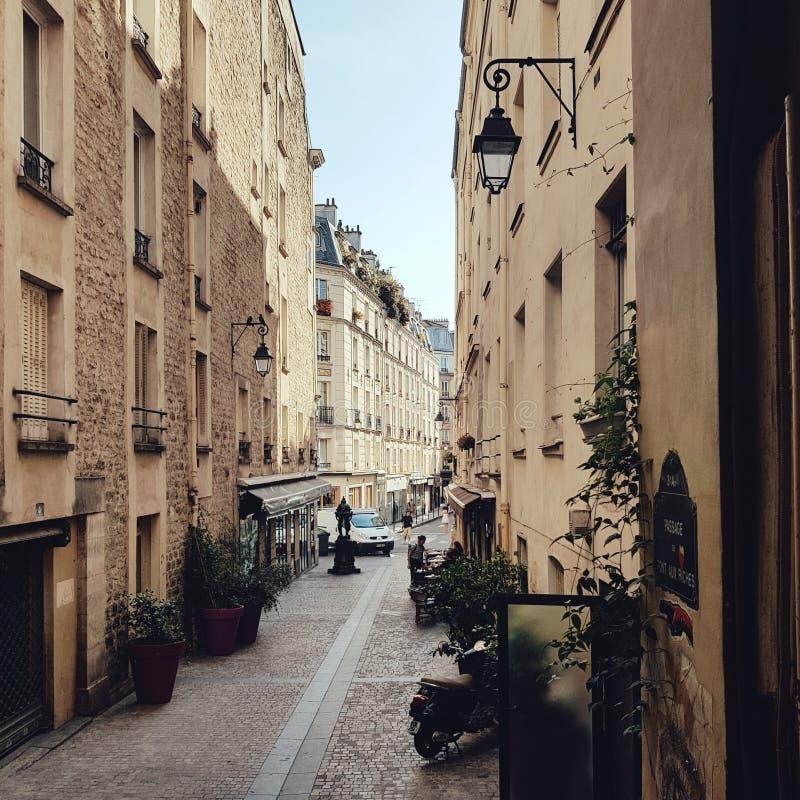 Litte street in Paris, the secret corner of the parisien life royalty free stock photos