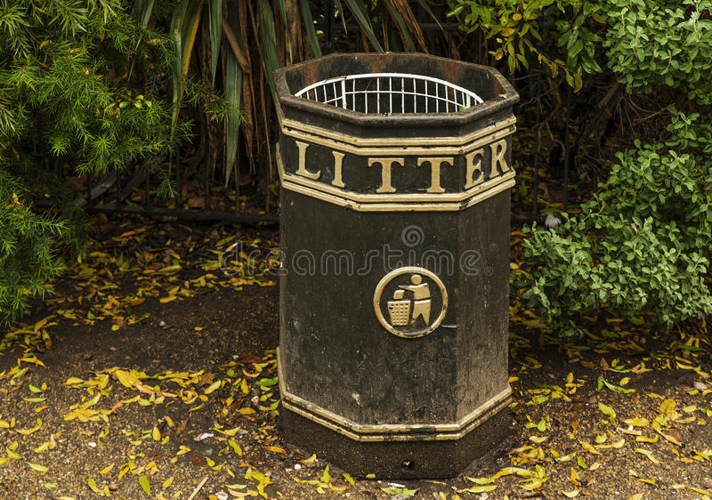 Litter bin in Hyde Park royalty free stock photos