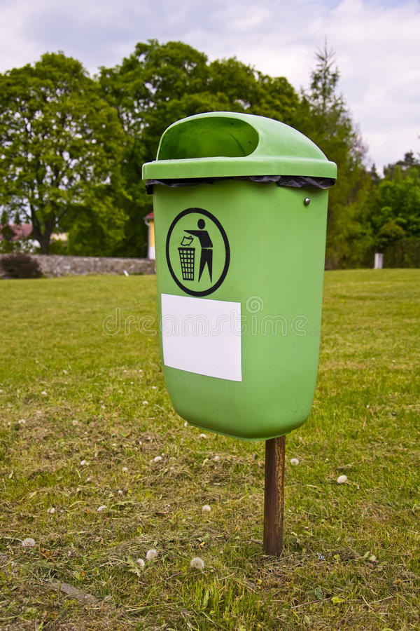 Litter Bin in Park royalty free stock images