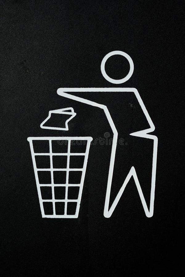 Litter bin symbol stock photography