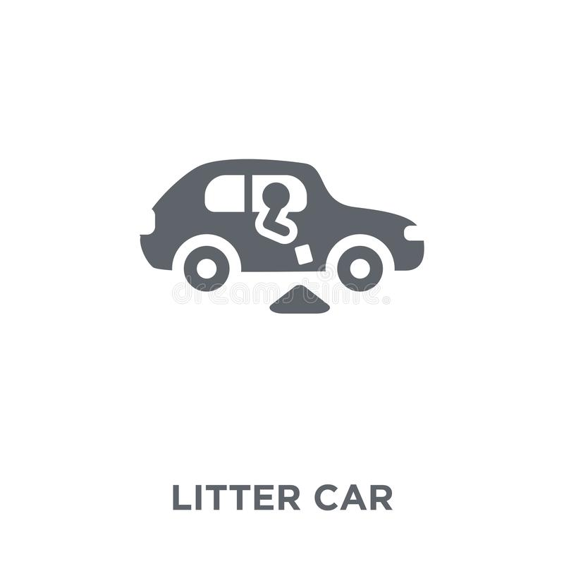 litter car icon from Transportation collection. vector illustration