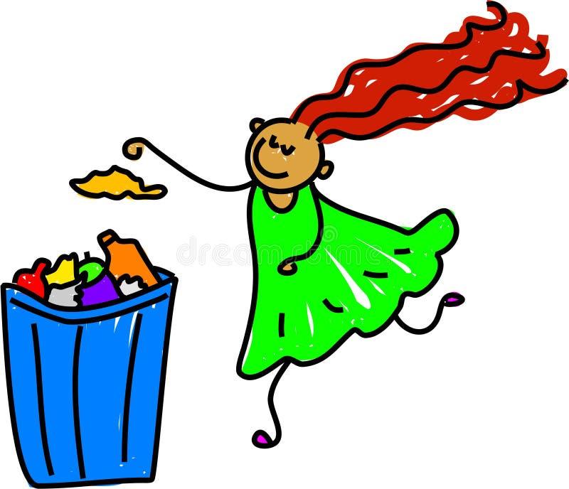 Litter girl stock illustration