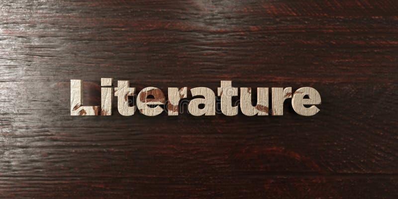Litteratur - grungy trärubrik på lönn - 3D framförd fri materielbild för royalty royaltyfri illustrationer