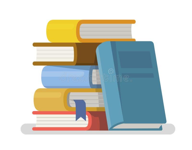 Litteratur och arkiv i plan stil vektor illustrationer