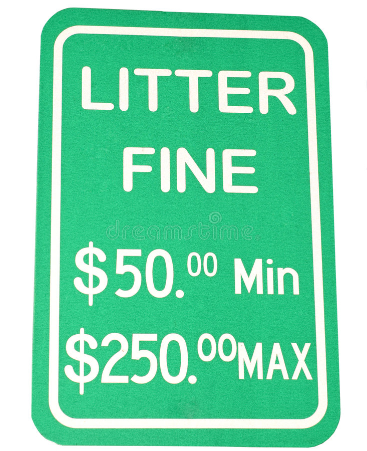 Download Littering Sign stock image. Image of green, garbage, information - 5345581