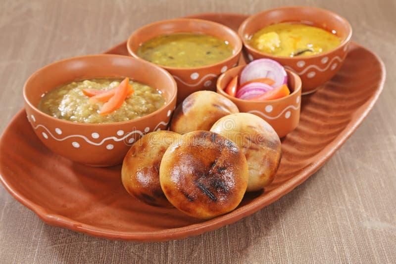 Litti Chokha, Bihar tradycyjny jedzenie - fotografia royalty free