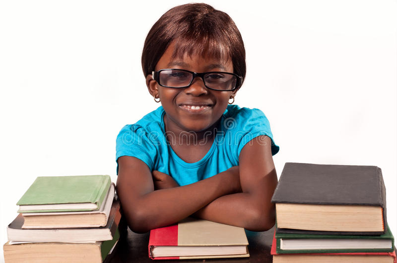 Download African School Girl Smiling With Arms Fold Stock Image - Image: 36930661