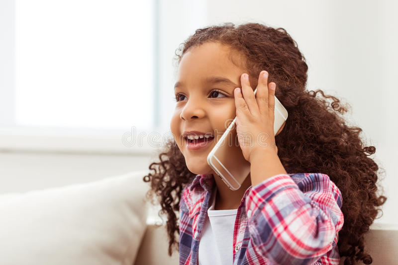 Little Afro-American girl stock image
