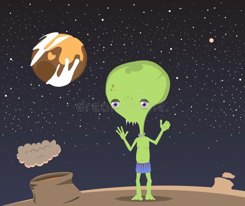 Little alien boy royalty free illustration