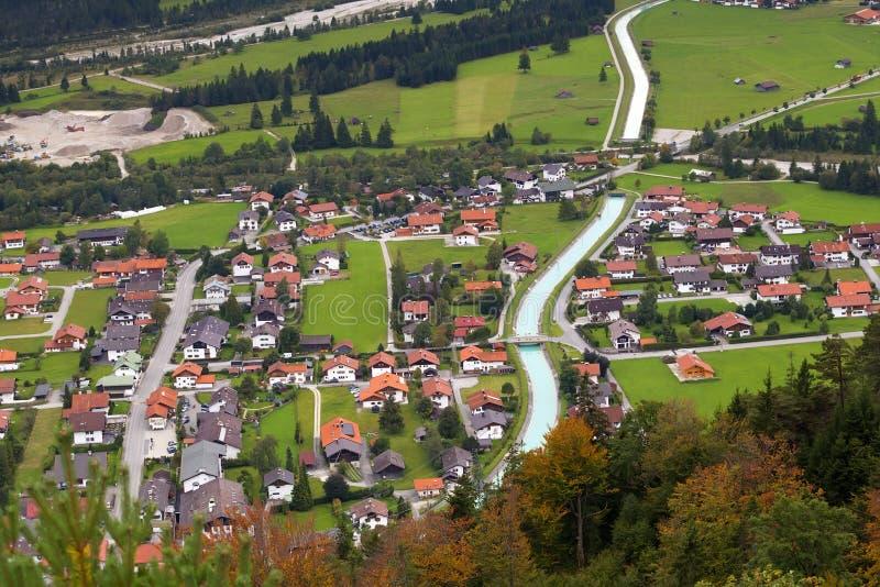 Little alpine town Wallgau royalty free stock photo