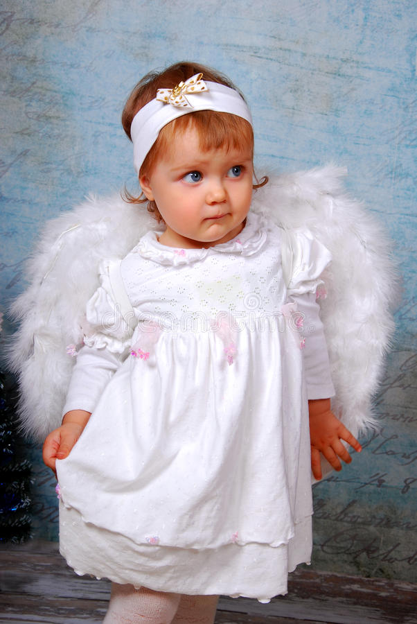 Download Little angel stock photo. Image of baby, girl, human - 28186406