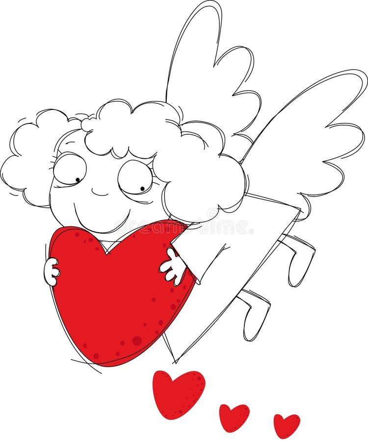 Download Little angel stock vector. Illustration of spatter, backgrounds - 7534232