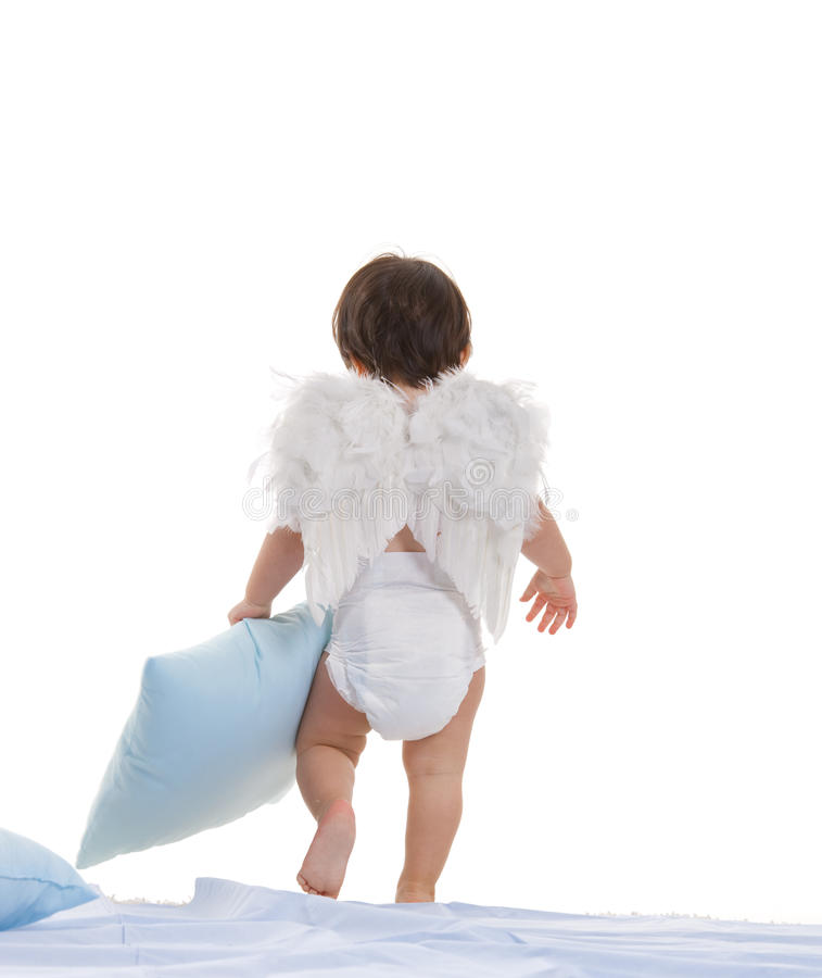 Free Little Angel Going To Sleep Stock Photo - 11019510