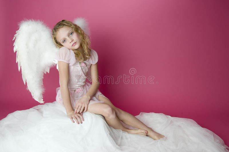 Little Angel Perched stock photo