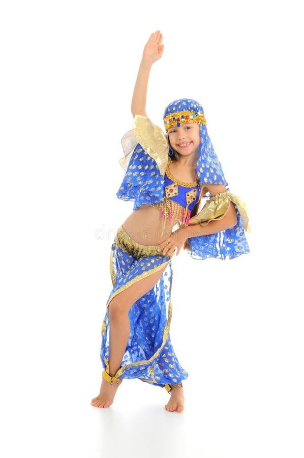 Little arabic belly-dancer. Funny little arabic belly-dancer royalty free stock photos