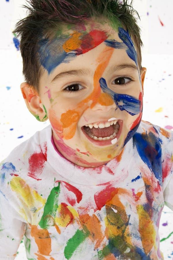 Download Little Artist stock image. Image of face, colour, caucasian - 1362271
