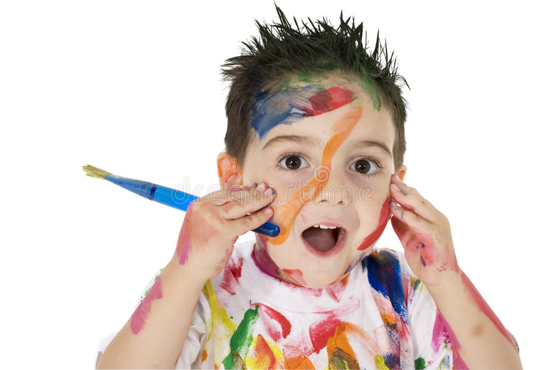 Download Little Artist stock photo. Image of laughter, child, background - 1362380