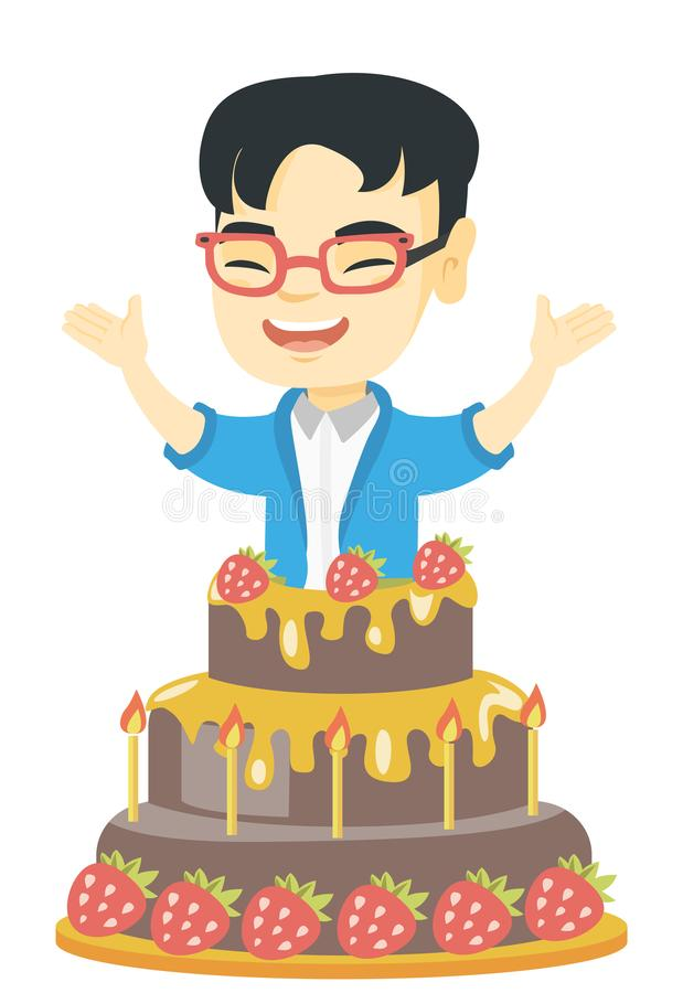 Asian boy cake