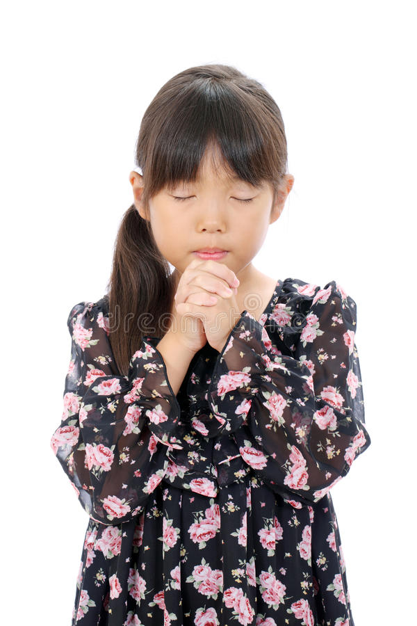 Download Little asian girl praying stock photo. Image of eyes - 27631664