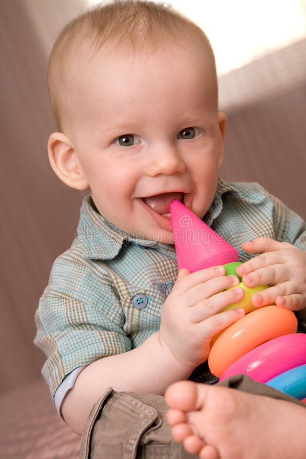 Download Little attractive baby boy stock image. Image of human - 5418187