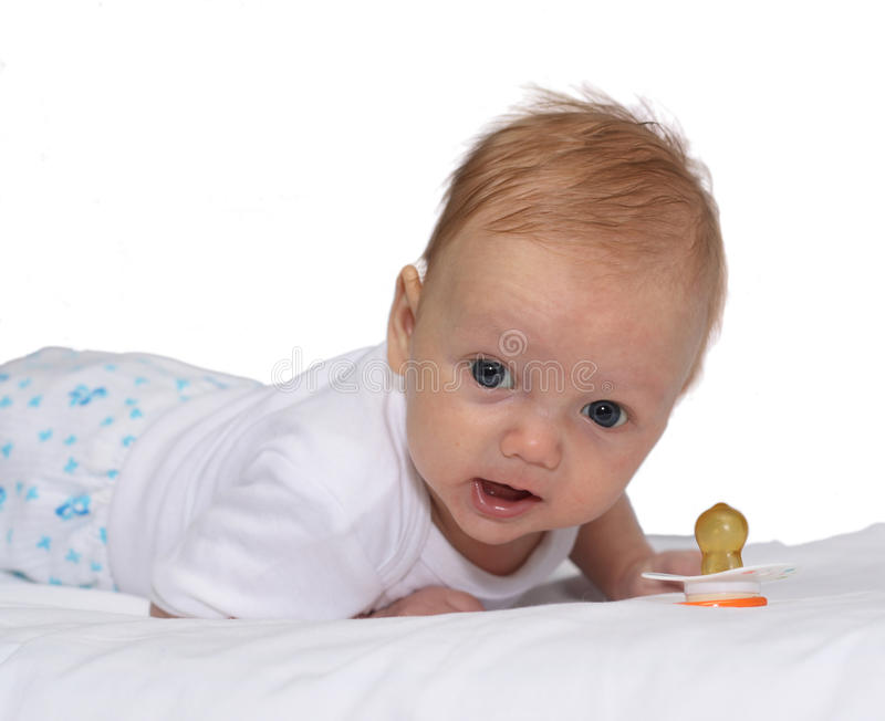Download Little baby stock image. Image of looking, front, cute - 13491411