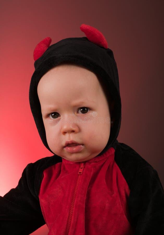 Little baby boy devil royalty free stock photo