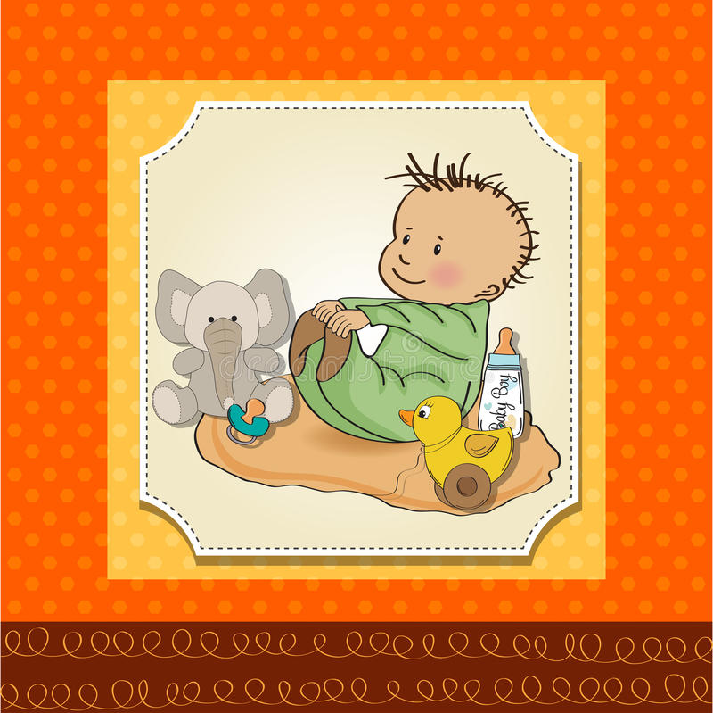 Download Little Baby Boy Play With His Toy Stock Vector - Image: 24776469