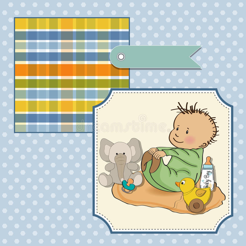 Little Baby Boy Play With His Toy Royalty Free Stock Images