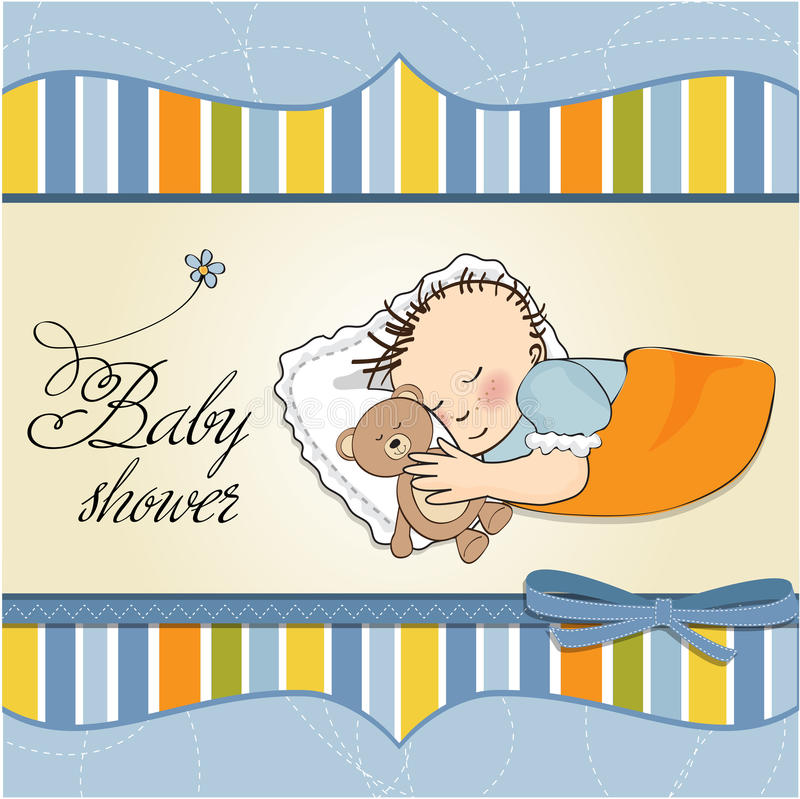 Download Little Baby Boy Sleep With His Teddy Bear Toy Royalty Free Stock Image - Image: 23755806