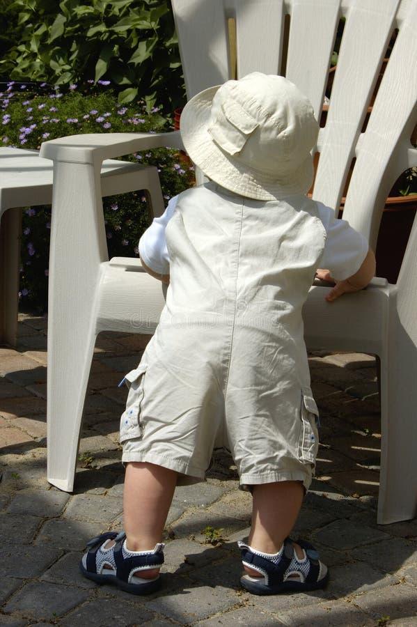 Download Little Baby Gardener stock photo. Image of garden, stand - 157642