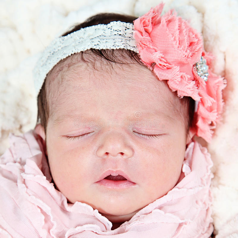 Little baby girl stock photos