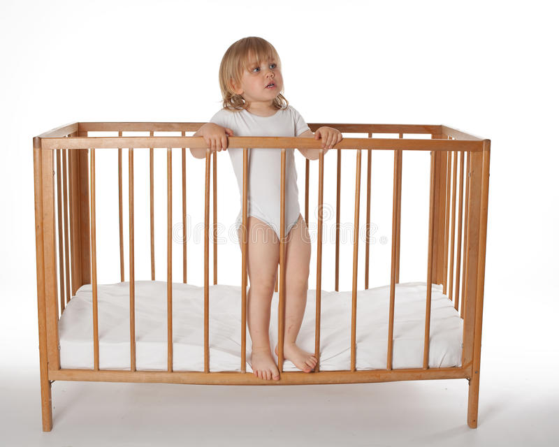 Download Little Baby Girl Do Not Want To Sleep Stock Image - Image: 9578463