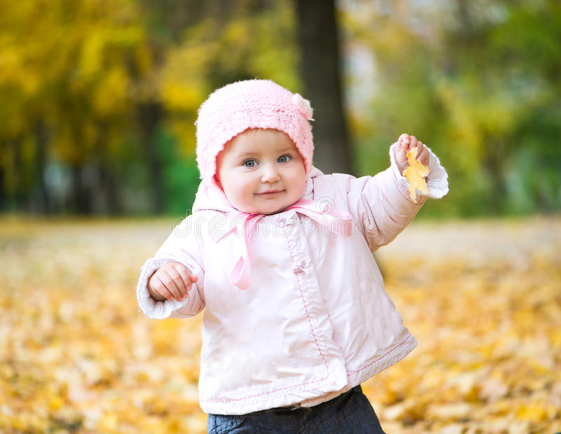 Little baby in the park royalty free stock photos