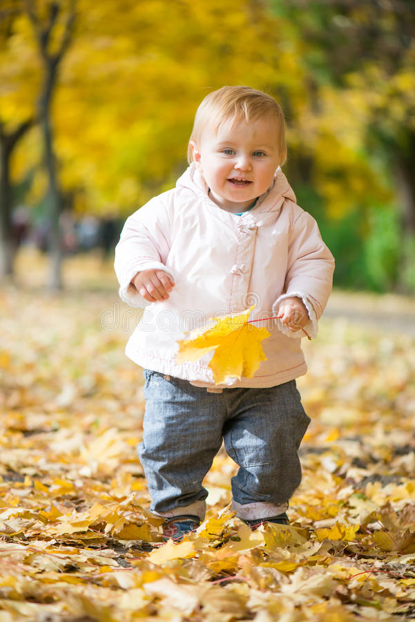 Little baby in the park royalty free stock images
