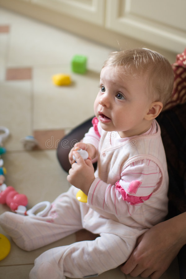 Little Baby Play Stock Photography