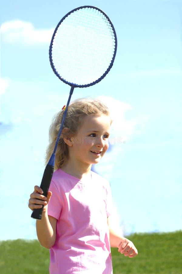 Little Badminton Player Stock Photo
