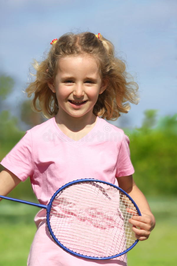 Download Little badminton player stock photo. Image of recreational - 9918286