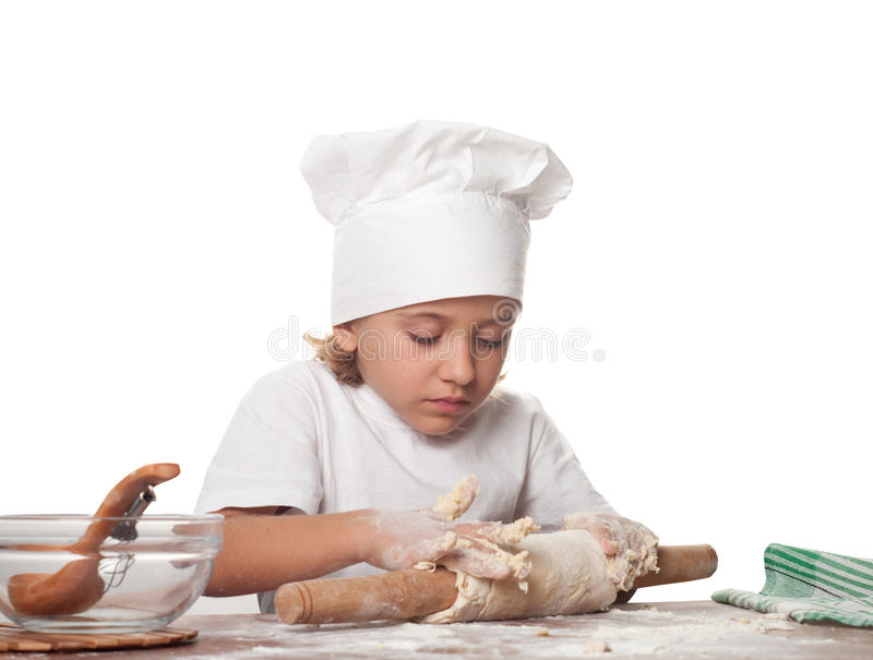 Download Little baker stock photo. Image of closeup, daughter - 23428656