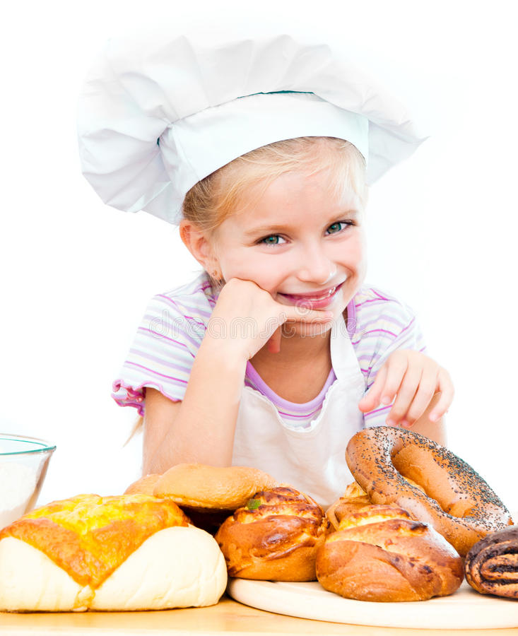 Download Little baker stock photo. Image of bakery, background - 26459266