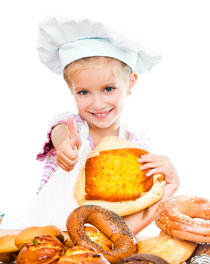 Download Little baker stock image. Image of cook, bread, chief - 26459269