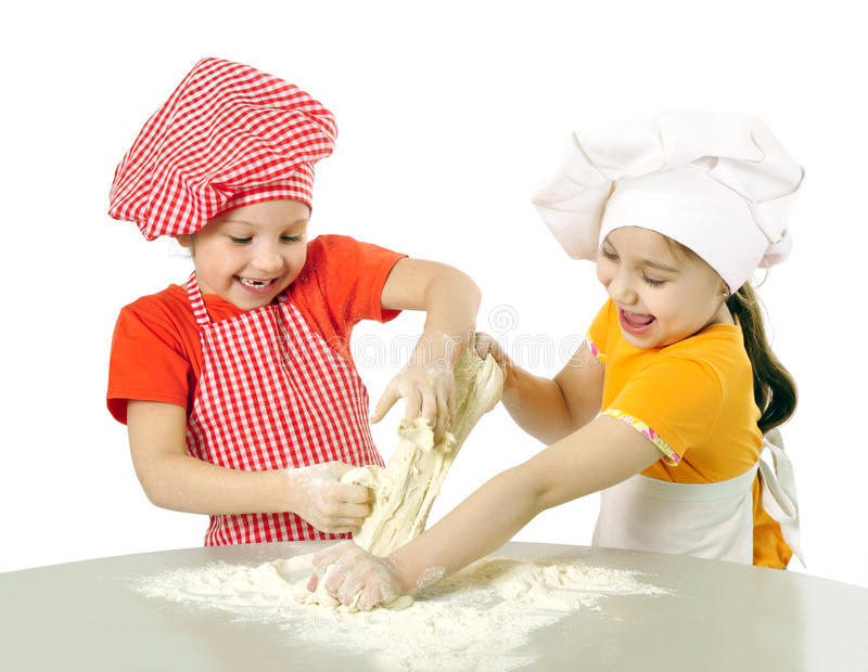 Little bakers royalty free stock photos