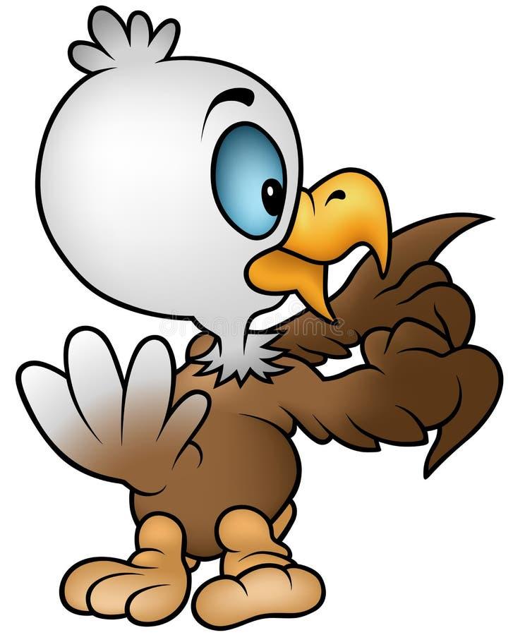 Download Little Bald Eagle stock vector. Image of clip, smiling - 23593243