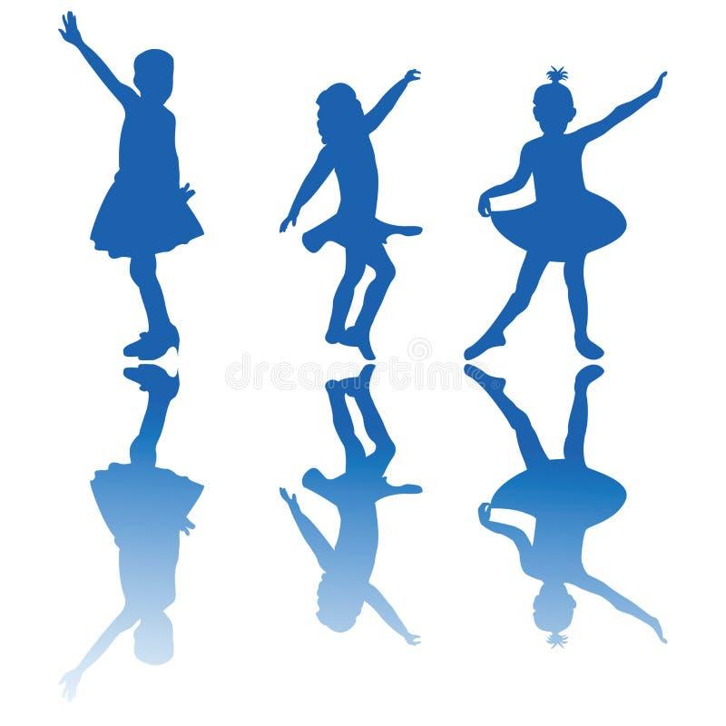 Download Little balerinas stock vector. Image of beautiful, reflection - 13368895