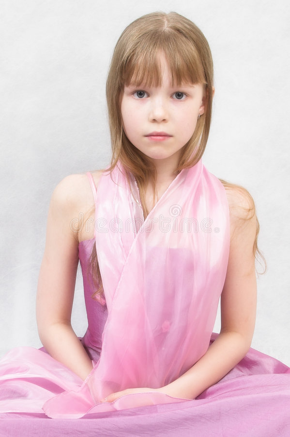 Download Little ballerina stock photo. Image of dress, blonde, beautiful - 1416502