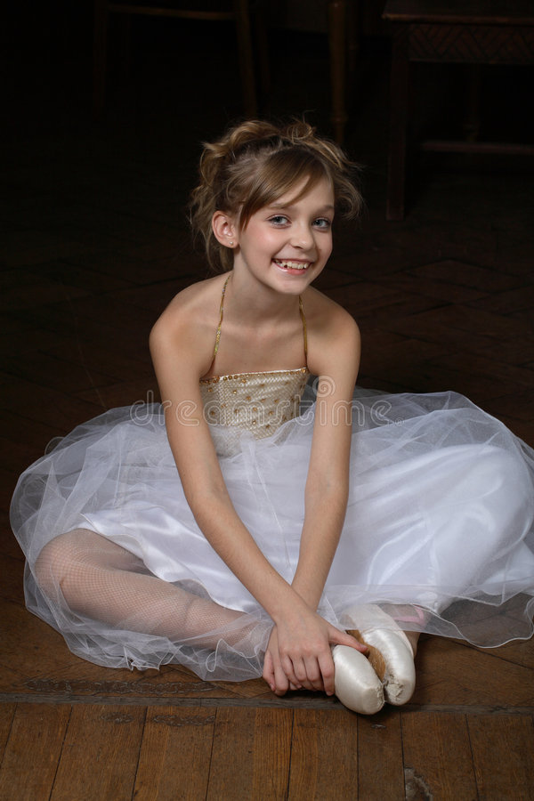 Little ballerina royalty free stock photography