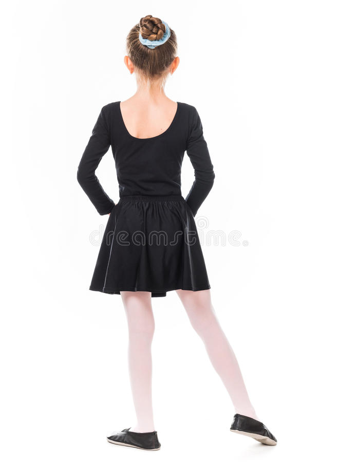 Little ballerina from back royalty free stock photo