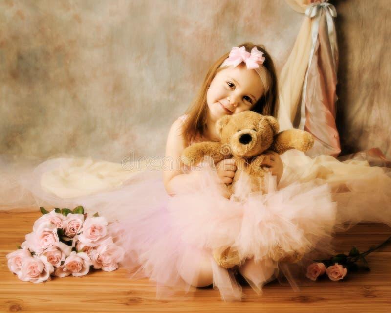 Little ballerina beauty stock photos